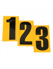 Numero Adhes. Negro fondo amarillo