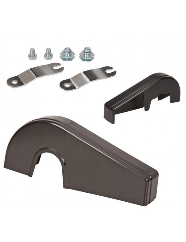 Cubrecadenas universal Negro con soportes