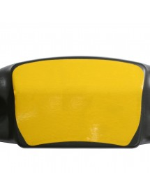 Adhesivo amarillo paragolpes trasero