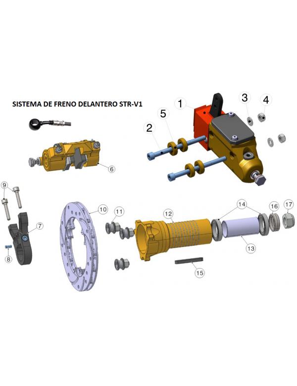 Sistema Freno delantero STR-V1