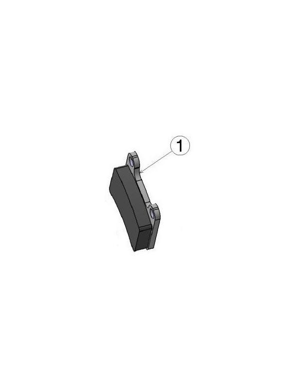 Pastilla de freno IPK delantera STR V1 y trasera MKB-V1