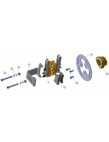 Sistema freno mecánico BABY KART completo