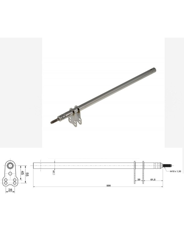 Columna dirección TONY compatible M10 x 500 mm