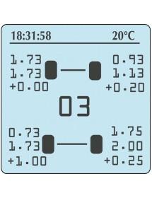 Manometro Hiprema + Pirómetro + Cronometro 4P