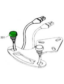 Pulsador verde con cable