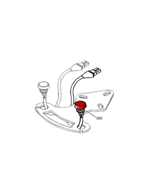Pulsador Rojo con cable