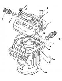 Culata y cilindro motor X30