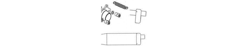 repuestos y recambios, accesorios y piezas escape motor IAME Puma 64 y motor IAME Puma 85