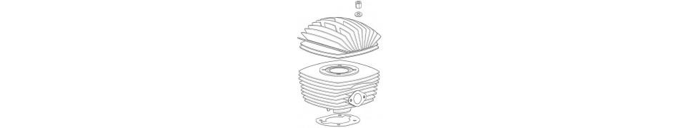 Repuestos y recambios de kart para el cilindro y culata del motor IAME Puma 85