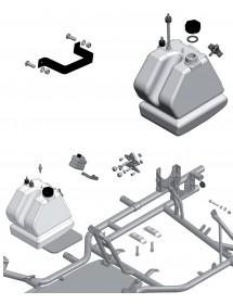 Depósito y soportes motor