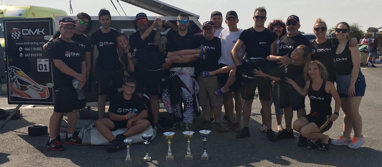DMK consigue segundo triplete consecutivo en la 3ª prueba del Campeonato Madrileño de Karting